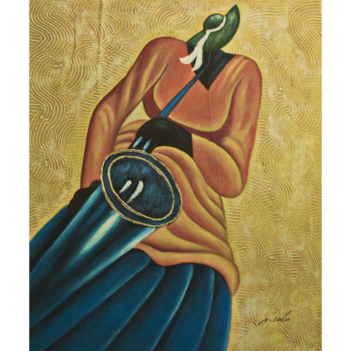 "Картина""Абстракция Саксофонист"", холст, масло, 50х60см"