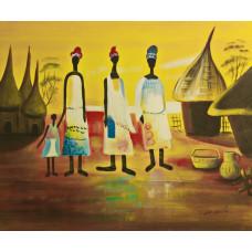 """""""Африканская семья"""", 50х60см"""
