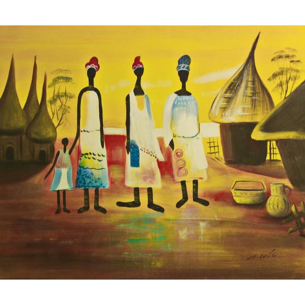 """Картина """"Африканская семья"""", 50х60см"""