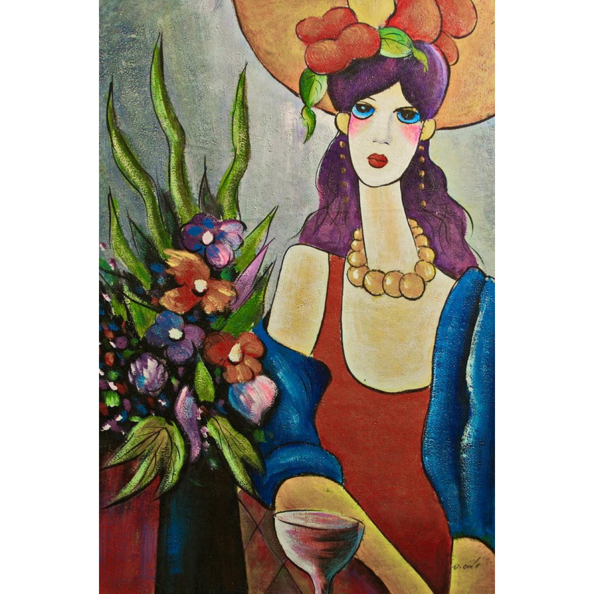 """Картина """"Алиса"""", холст, самло, 60х90см"""
