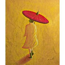 "Картина ""Человек с зонтом"", 50х60см"