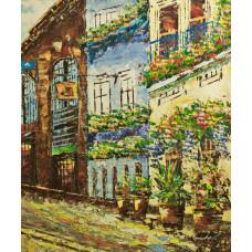 "Картина  ""Цветочная улица"", 50х60см"