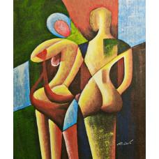 """Картина """"Две фигуры в призме"""", 50х60см"""