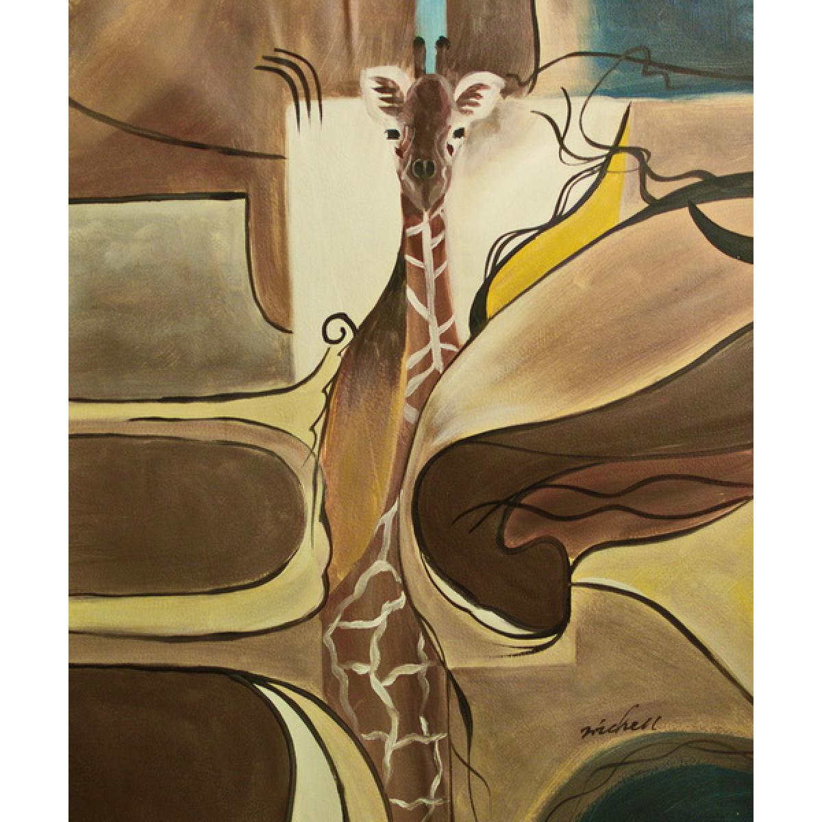 """Картина """"Жираф"""", холст, масло, 50х60см"""