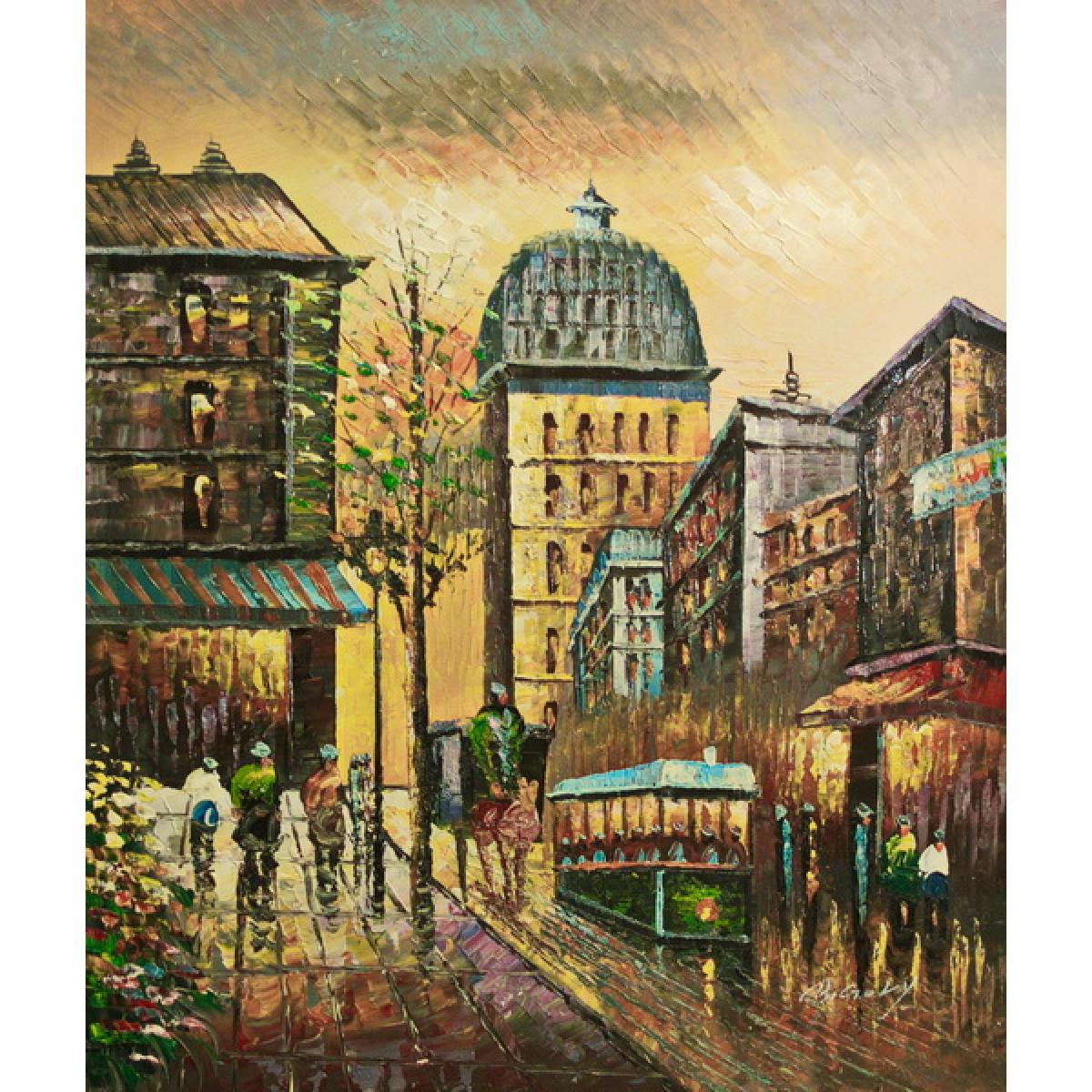 """Картина """"Городской пейзаж"""", холст, масло, 50x60см"""