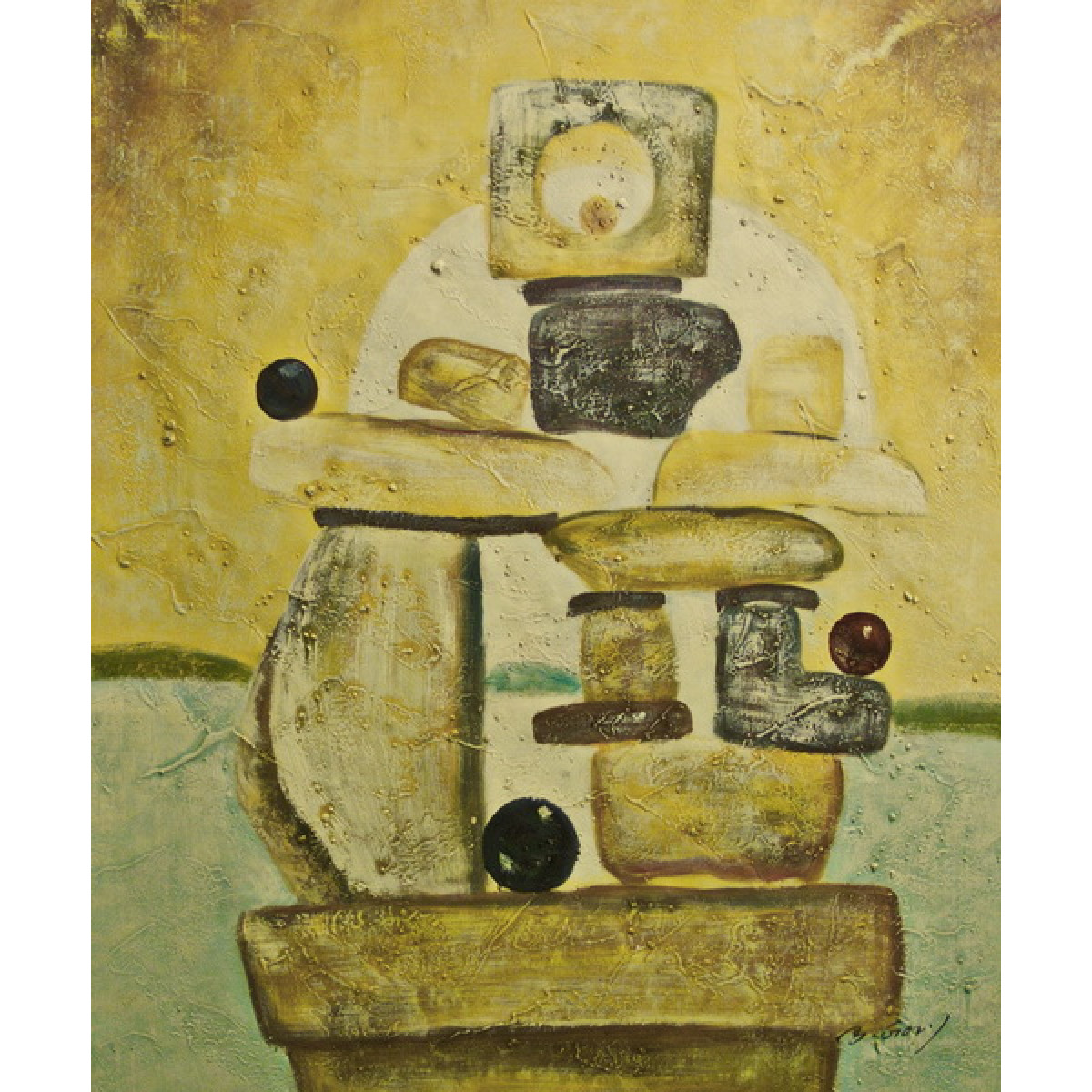 """Картина """"Камни"""", холст, масло, 50x60см"""