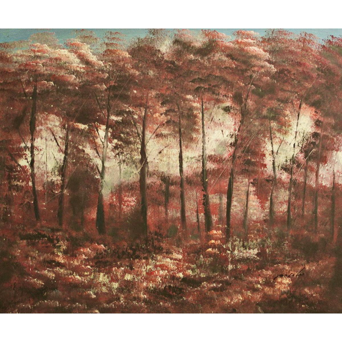 """Картина """"Красный лес"""", 50х60см"""