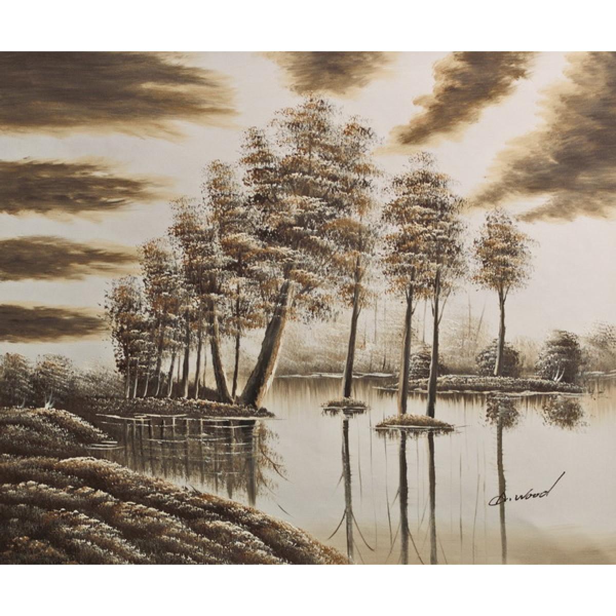 """Картина """"Лес паводок"""", холст, масло, 50х60см"""