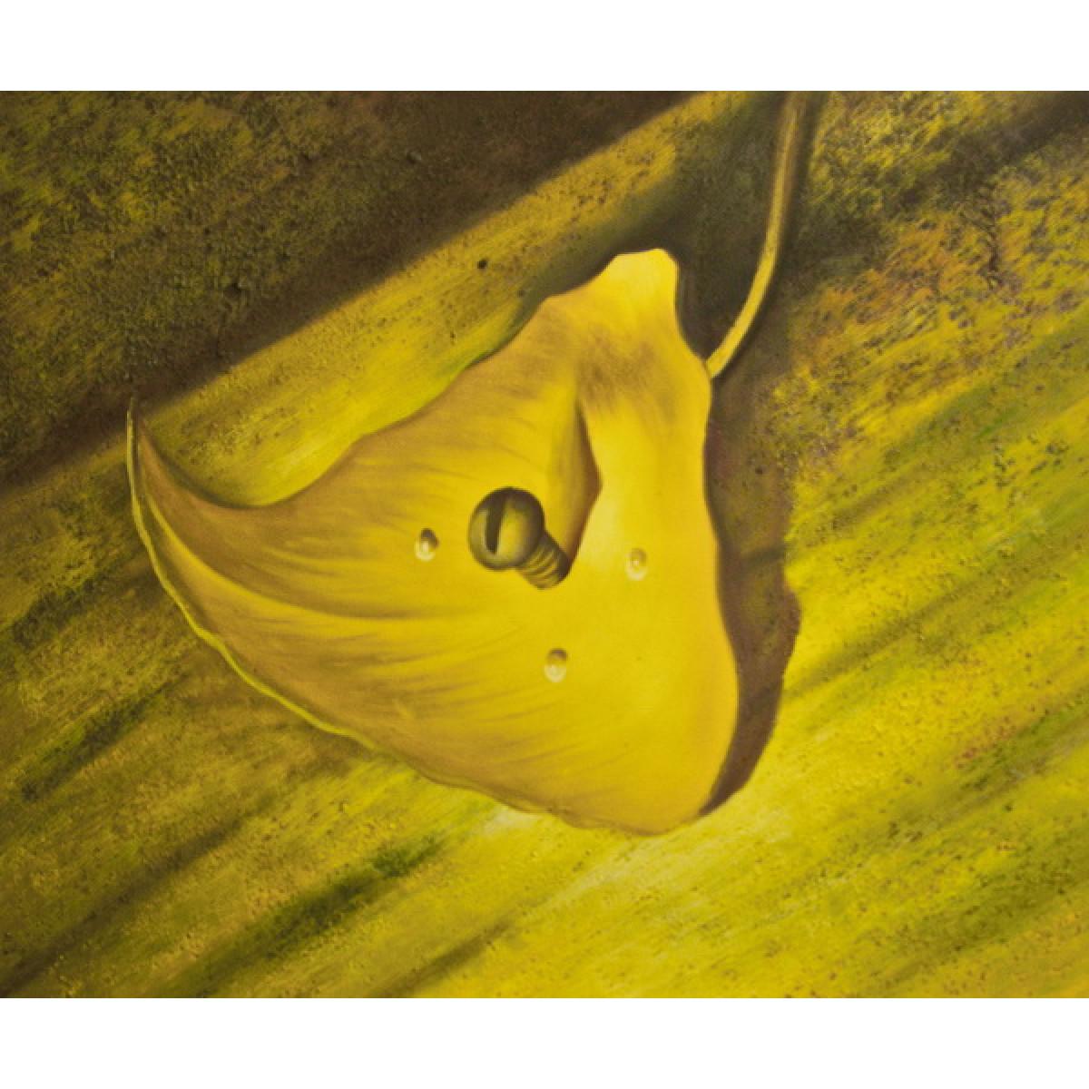 "Картина ""Привинченный лист"", холст, масло, 50х60см"