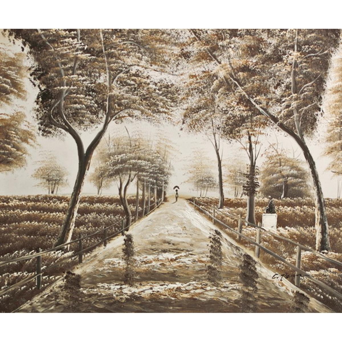 """Картина""""Прогулка по парку"""", холст, масло, 50х60см"""