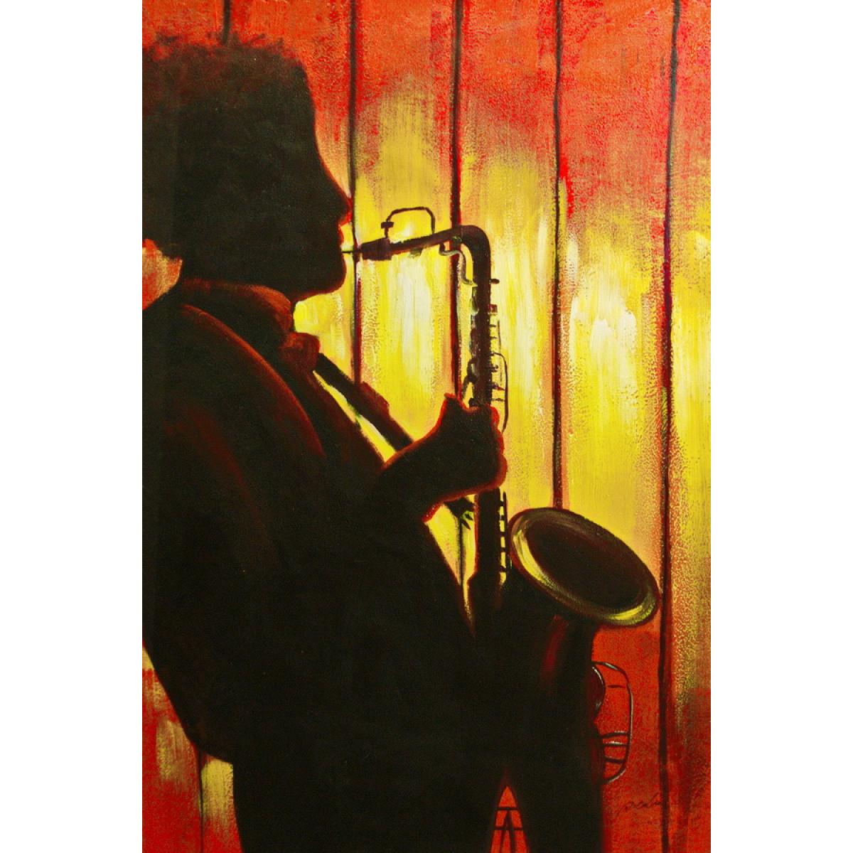 "Картина""Саксофонист"", холст, масло, 60х90см"