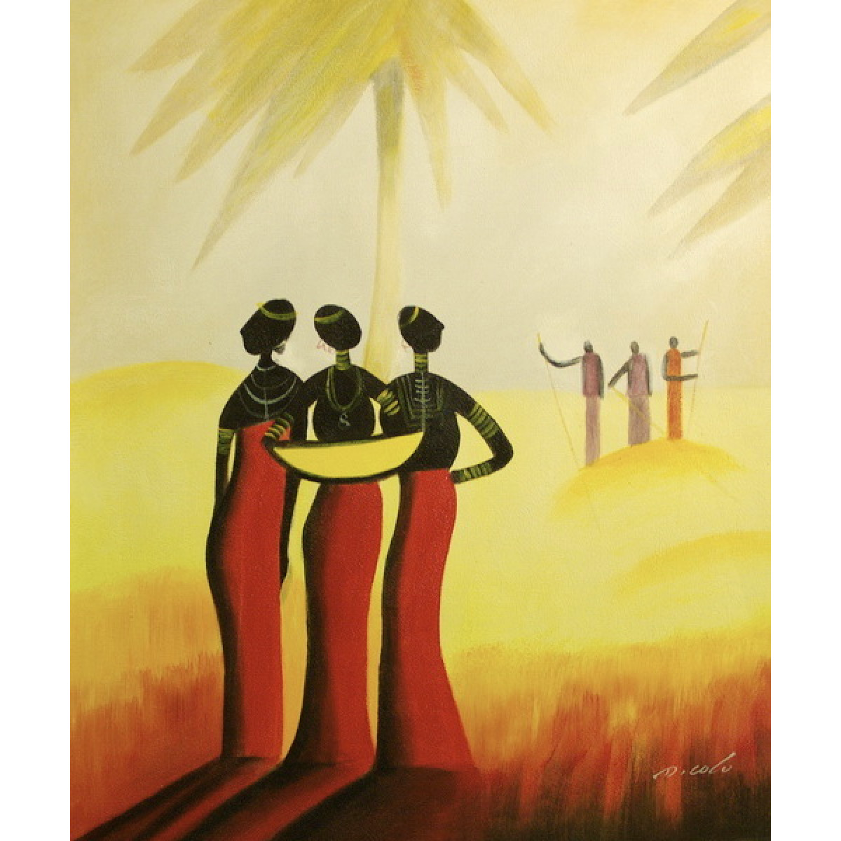 """Картина """"Три африканки"""", холст, масло, 50х60см"""