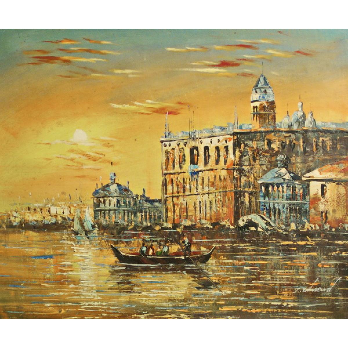 """Картина """"Венецианский дворец"""", холст, масло, 50х60см"""