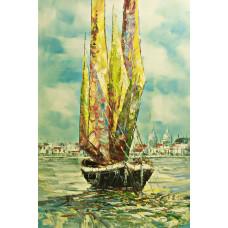 """Картина  """"Венецианские лодки"""", 60х90см"""