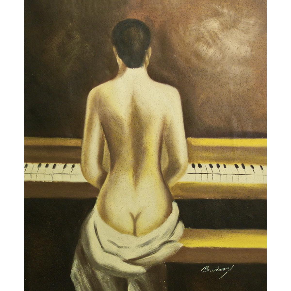 "Картина ""За роялем"", холст, масло, 50х60см"