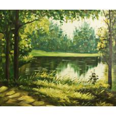 "Картина ""Зеленые берега"", 50х60см"