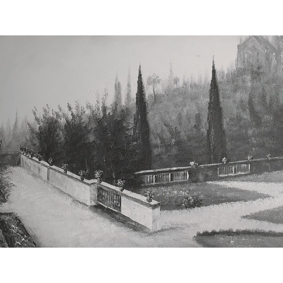 """Картина """"Парк. Монохром"""", холст, масло, 50х60см"""