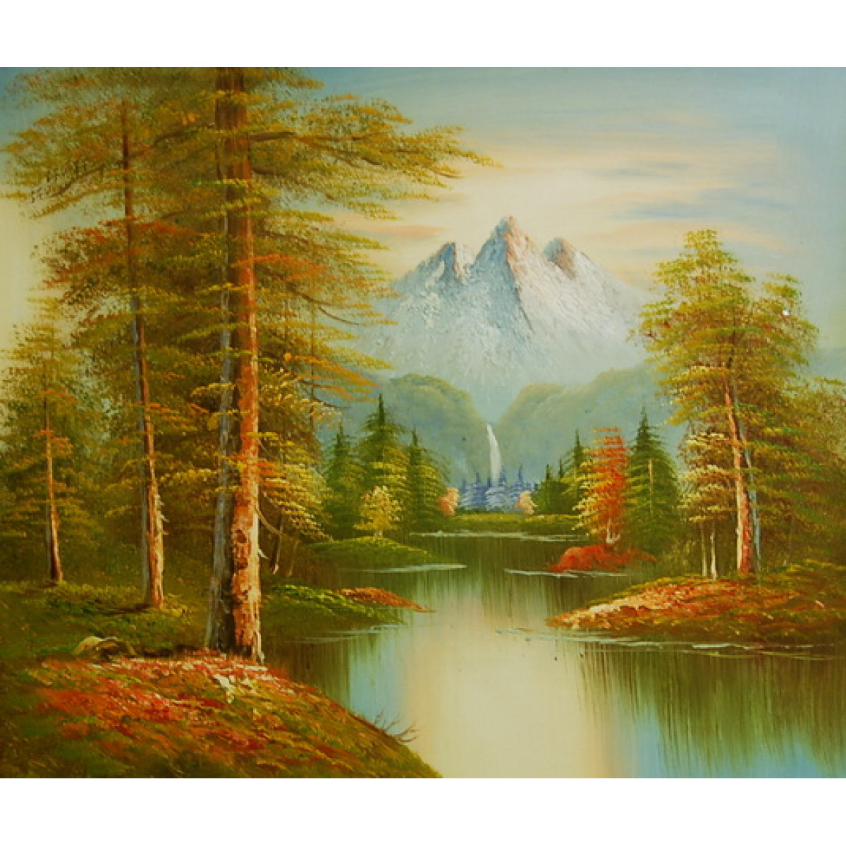 """Картина """"Вид на гору"""" , холст, масло, 50x60см"""