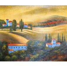 "Картина ""Абстрактный пейзаж 4"", холст, масло, 50х60см"