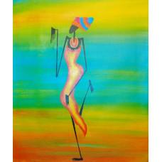 """Картина  """"Африканка"""" холст, масло, 50х60см"""