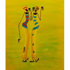 """Картина  """"Африканки"""" холст, масло, 50х60см"""
