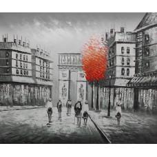 """Картина """"Париж красное дерево Арка"""" , холст, масло, 50х60см"""