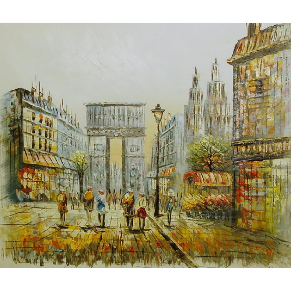 """Картина """"Парижская перспектива"""", холст, масло, 50х60см"""