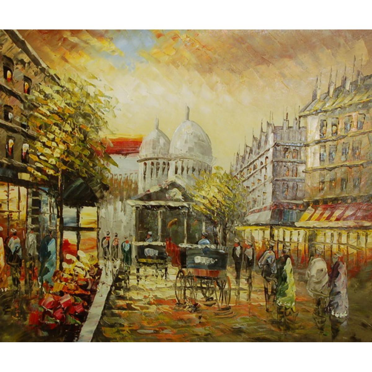 """Картина """"Париж. Вид на собор"""" , холст, масло, 50x60см"""