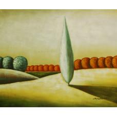 "Картина ""Абстрактный пейзаж 6"", холст, масло, 50х60см"
