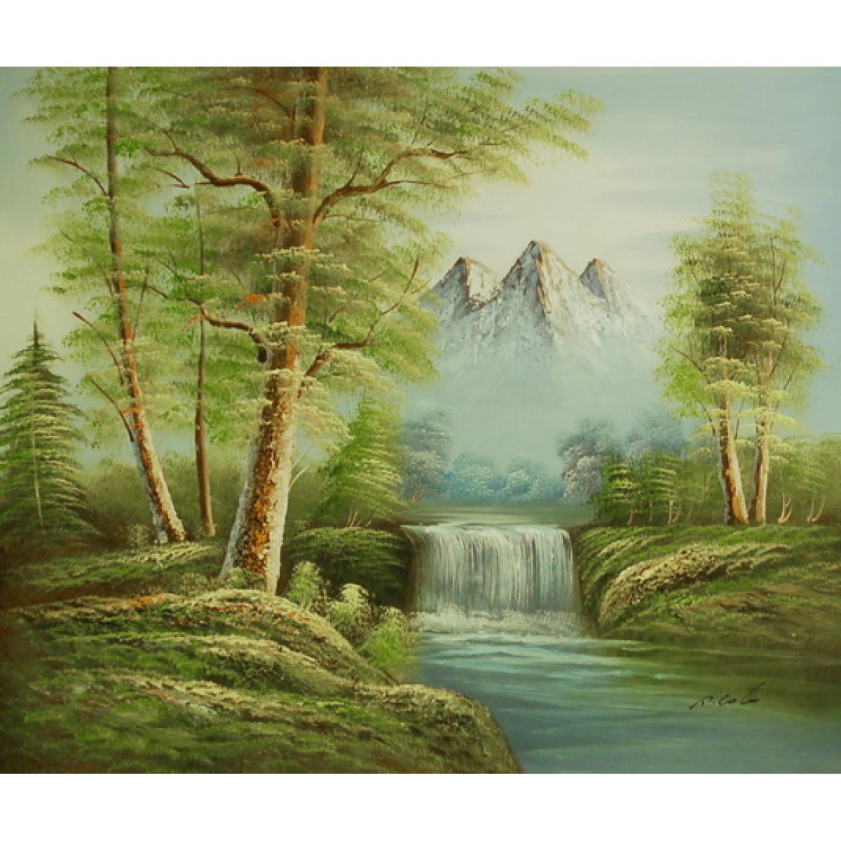 "Картина ""Горная река"", холст, масло, 50х60см"