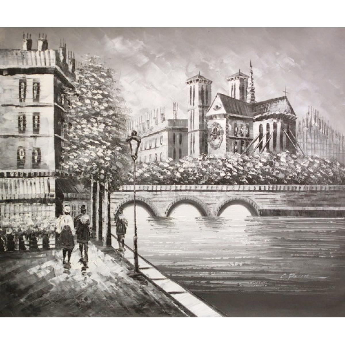 """Картина """"Мост"""" , холст, масло, 50х60см"""