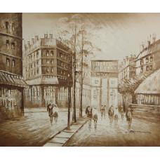 """Картина  """"Париж в бежевых тонах 2"""", холст, масло, 50х60см"""