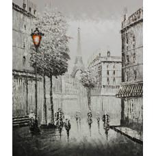 """Картина  """"Парижский фонарь"""", холст, масло, 50х60см"""