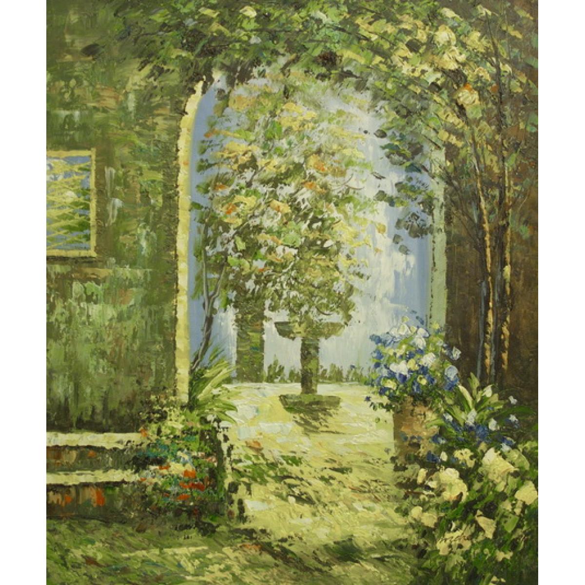 """Картина """"Зеленая арка"""", холст, масло, 50х60см"""