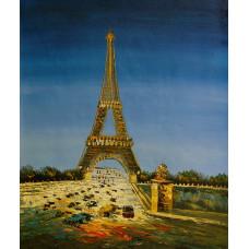 """Картина """"Париж. Эйфелева башня"""" , холст, масло, 50x60см"""