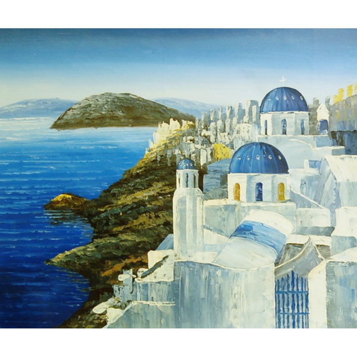 "Картина ""Греция"", холст, масло, 50х60см"
