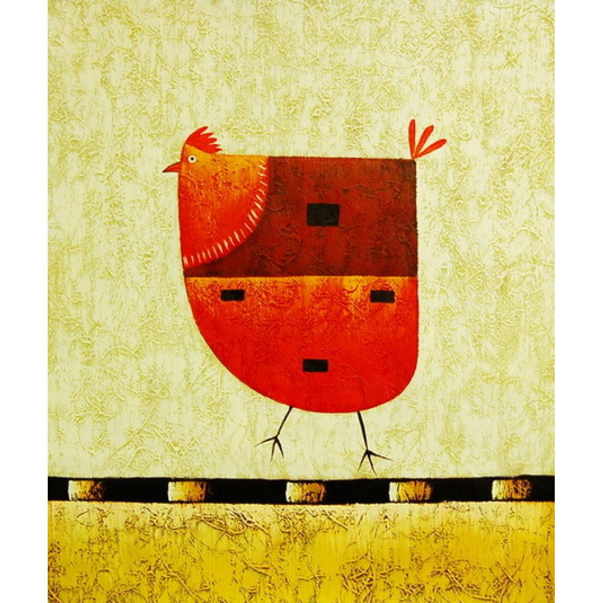 """Картина """"Курица"""", холст, масло, 50х60см"""