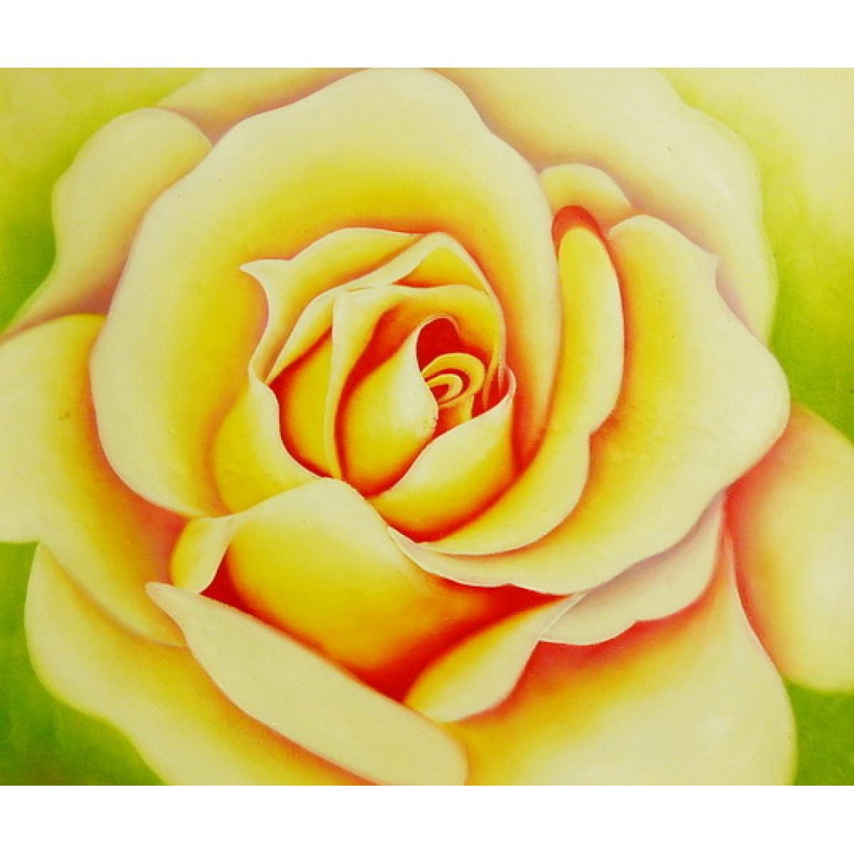 """Картина """"Чайная роза"""", холст, масло, 50х60см"""