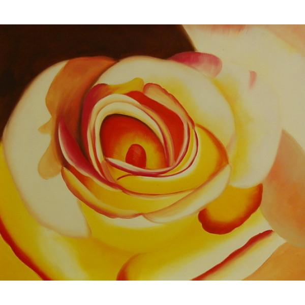"""Картина """"Желтая роза"""", холст, масло, 50х60см"""