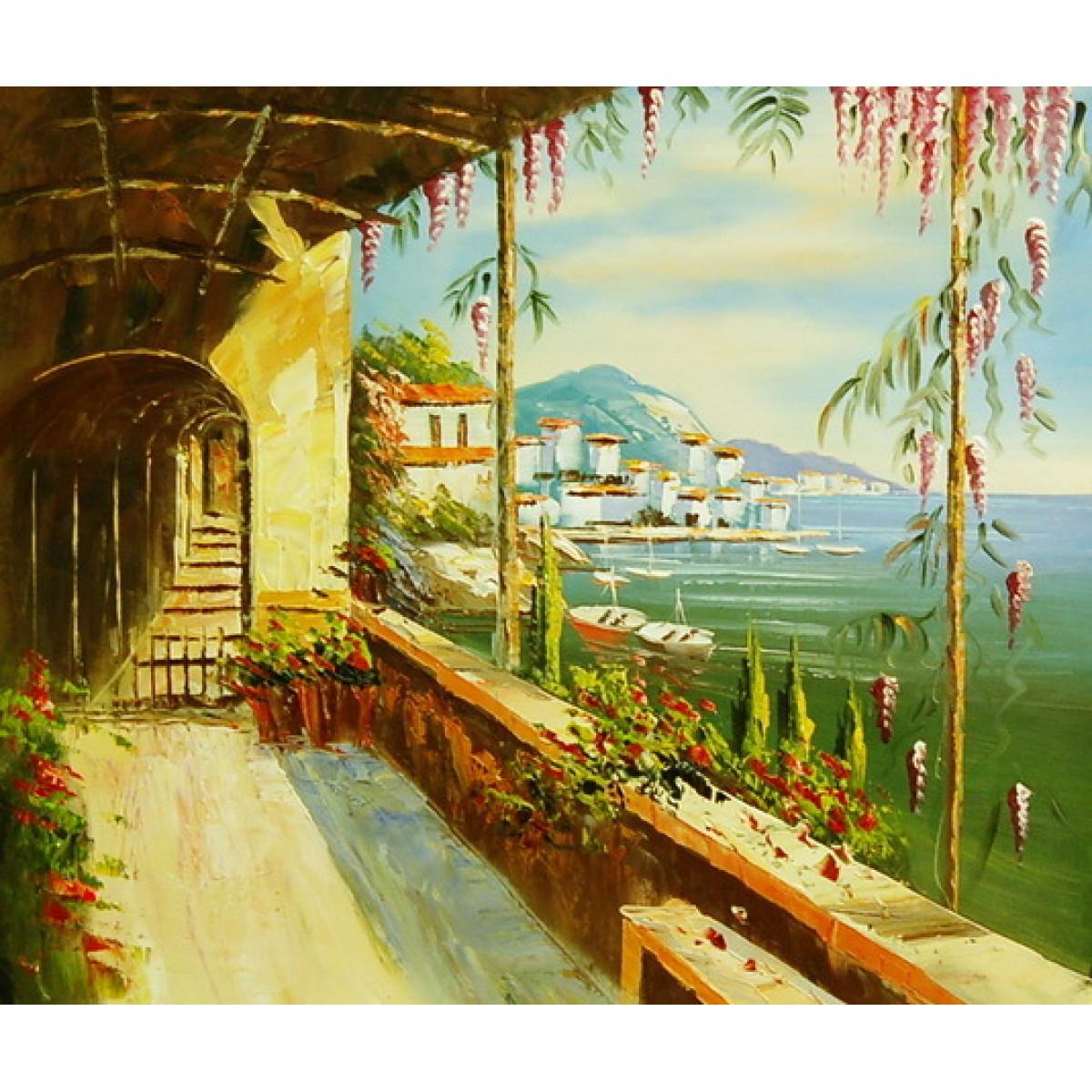"Картина ""Средиземноморье"", холст, масло, 50х60см"