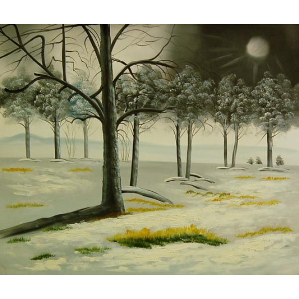 "Картина ""Странный лес"", холст, масло, 50х60см"