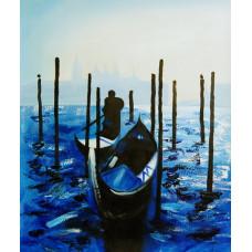 """Картина  """"Венеция ночью"""", холс, масло, 50х60см"""