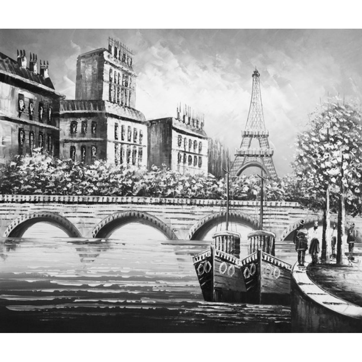 "Картина ""Париж Арочный мост"", холст, масло, 50х60см"