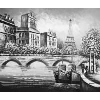 """""""Париж Арочный мост"""", холст, масло, 50х60см"""