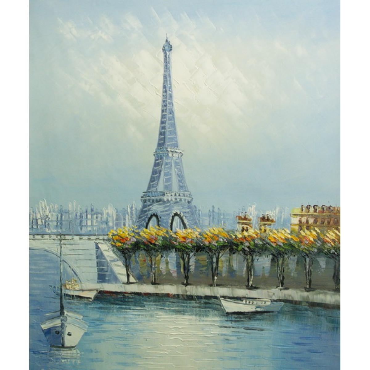 """Картина """"Эйфелева башня"""", холст, масло, 50x60см"""