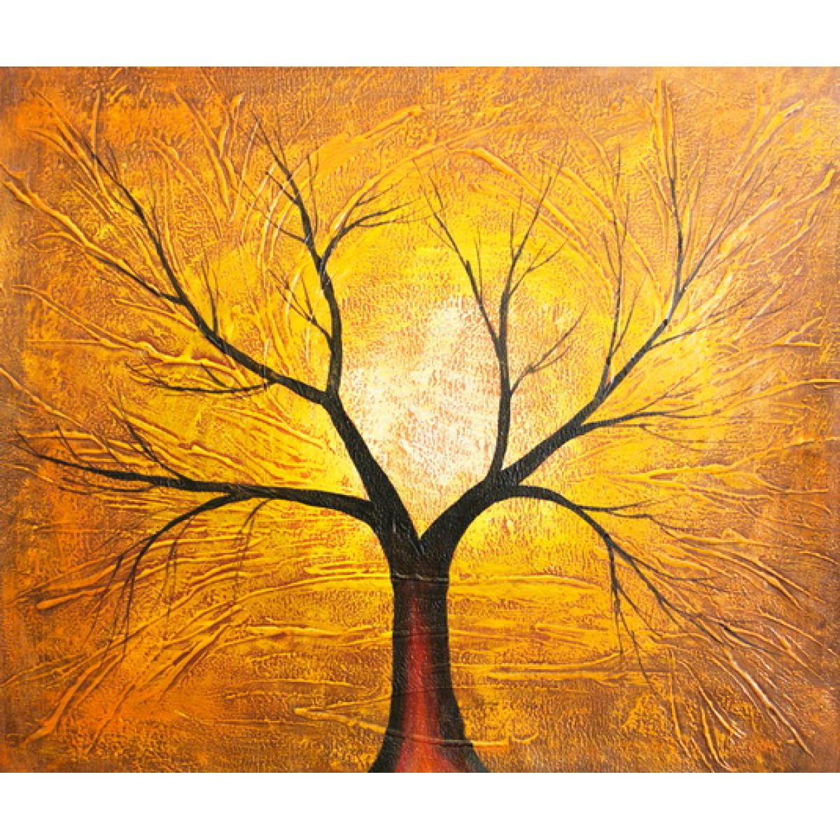 "Картина ""Красное дерево"" , холст, масло, 50х60см"
