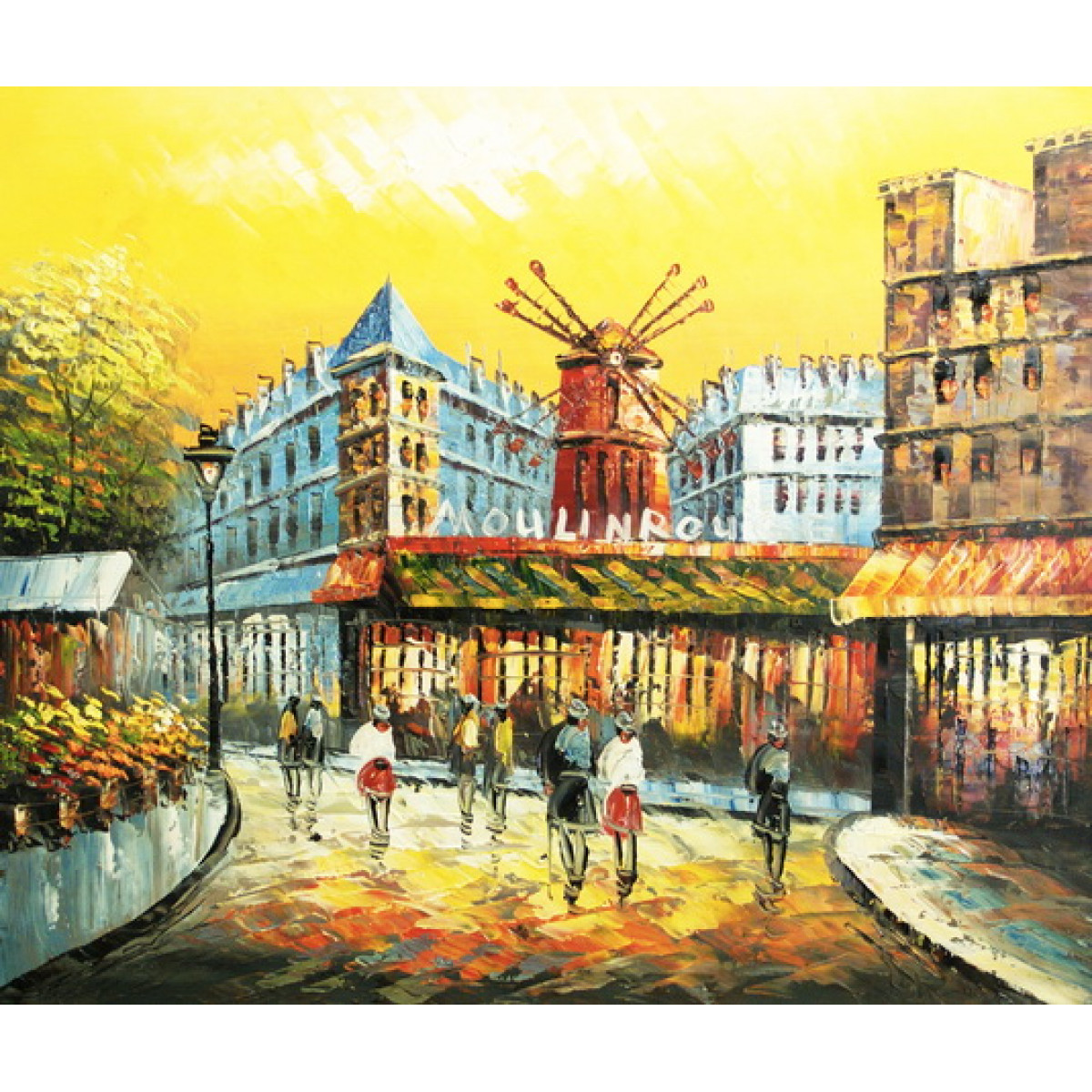 """Картина """"Париж. Мулен Руж"""" , холст, масло, 50x60см"""