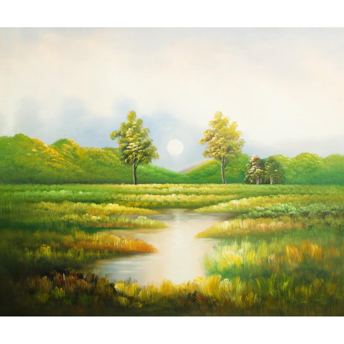 """Картина """"Река в поле"""", холст, масло, 50х60см"""