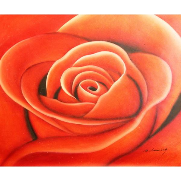 """Картина  """"Роза"""" холст, масло, 50х60см"""