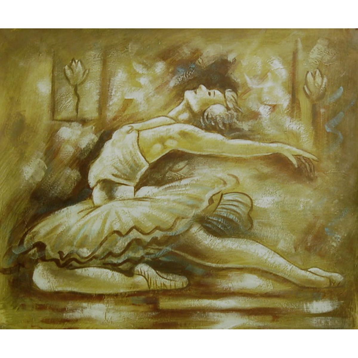 """Картина """"Балерина"""", холст, масло, 50x60см"""